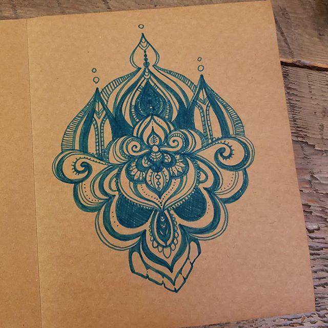 My doodle turned into a creepy skull  #idodoodle #mandala #markers #swirly #skull #creepy