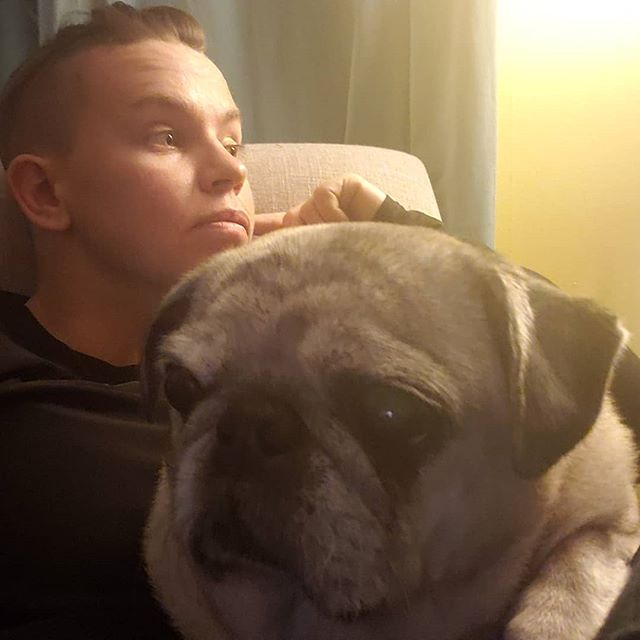Apparently it's national pug day. Here's to the most perfect potato that ever existed. We've been through some seriously dumb shit. I love her more than all the rest of you combined. 🖤💜🖤💜