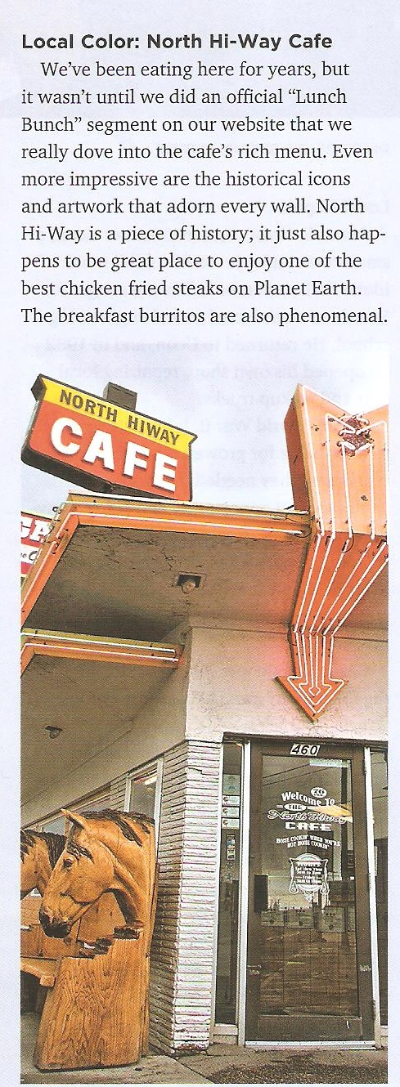 Recently the North Hi-Way Cafe made the editors choice in the local Idaho Falls magazine.