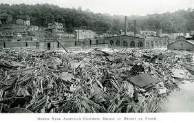 Aftermath along the French Broad River