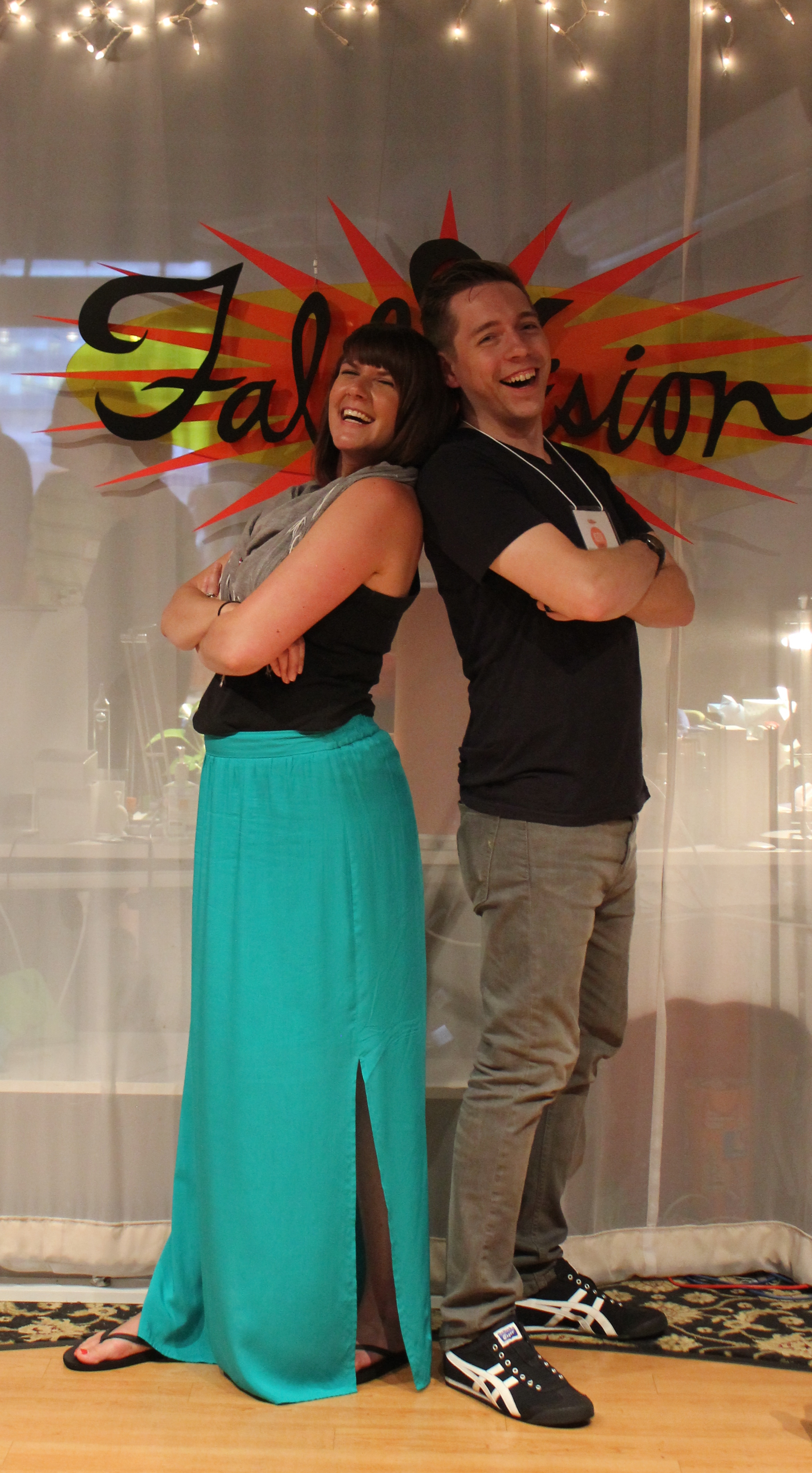 Keith with his wife, Renee, at a FableVision open house earlier this year.