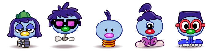 Zoombinis in a row