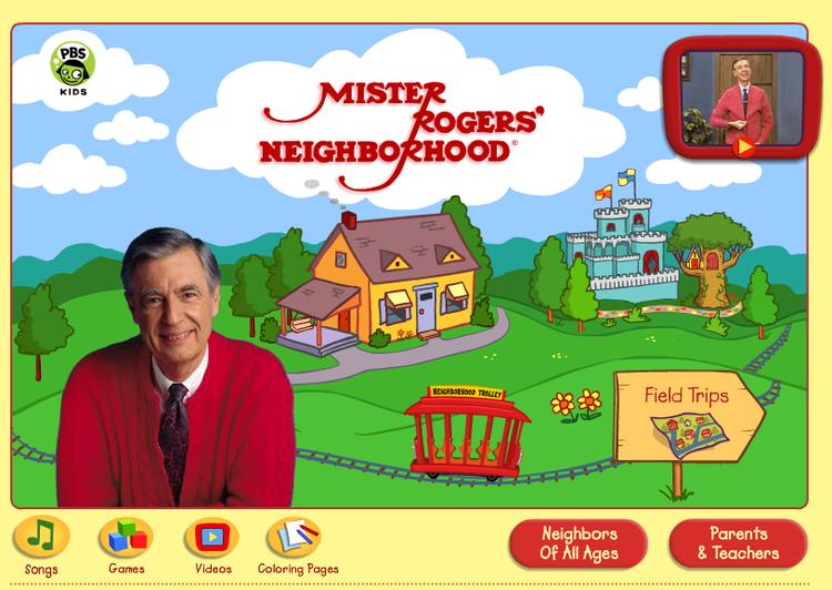 Website Mister Rogers Neighborhood Fablevision Studios