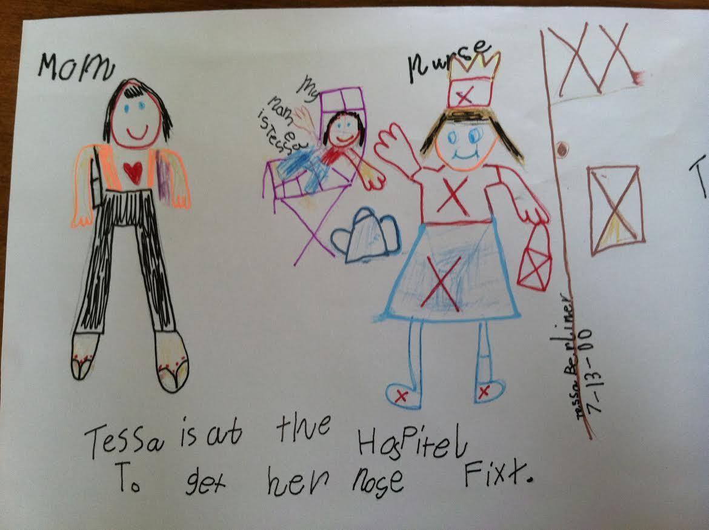 Drawn by Tessa on July 13, 2000.