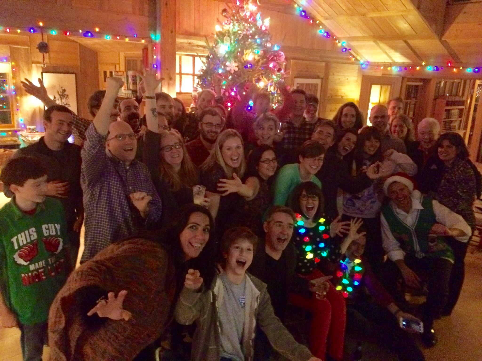 The FableVision team at their 2015 holiday party.