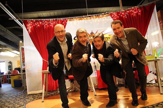 From left: Gary Goldberger, Peter H. Reynolds, Paul Reynolds, Tone Thyne.
