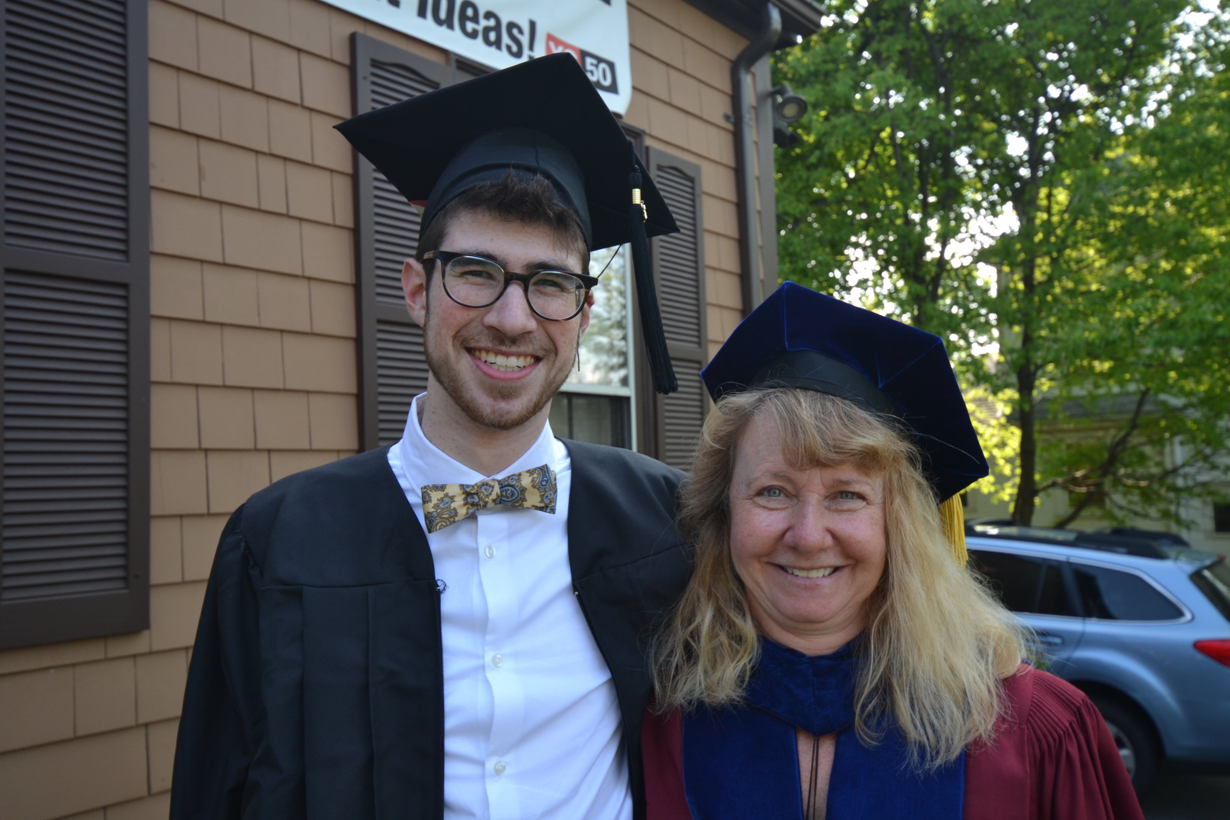 Sam with Professor Julie Dobrow of Tufts