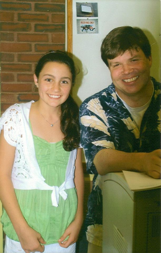 Mikaela with Mr. Barr