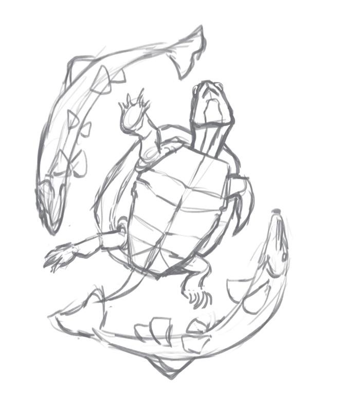 eastern painted turtle pop up sketch.jpg