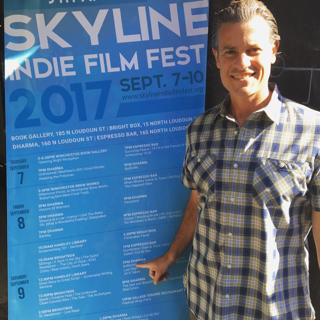 Marc at the 5th Annual Skyline Indie Film Fest where  The Reflection in Me  was an official festival selection.