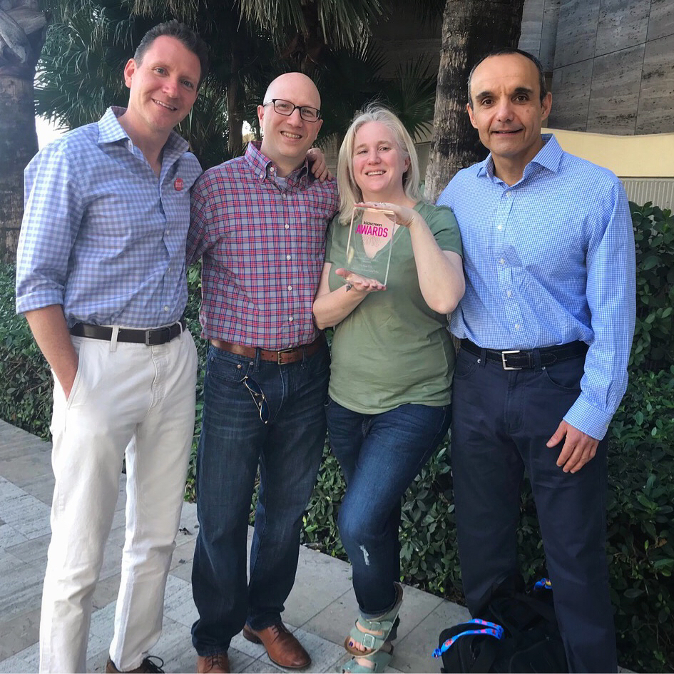 From left: Tone Thyne, Gary Goldberger, Leigh Hallisey, Sep Riahi