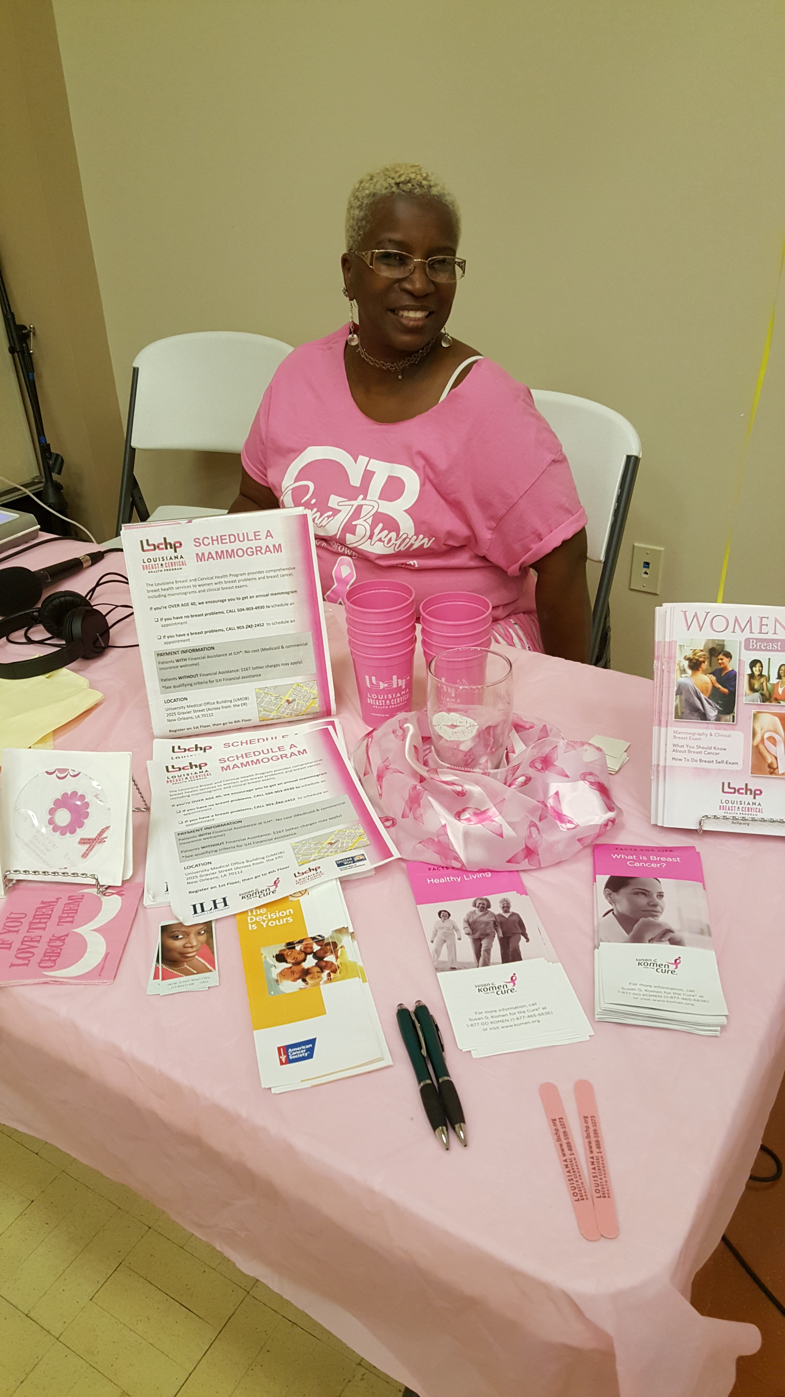 Thank you Gina Brown for sharing these materials with women in Gretna!