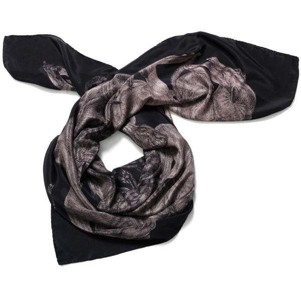 Artlette Ess Sleeping Dogs Large Silk Square Scarf