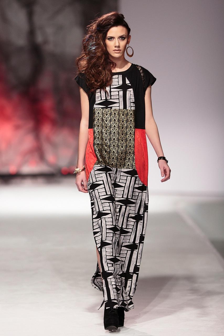 Spring Summer 2013 Patchwork maxi dress