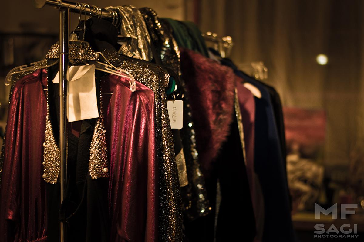 Wardrobe rack for Pura Vida Vintage's runway segment.