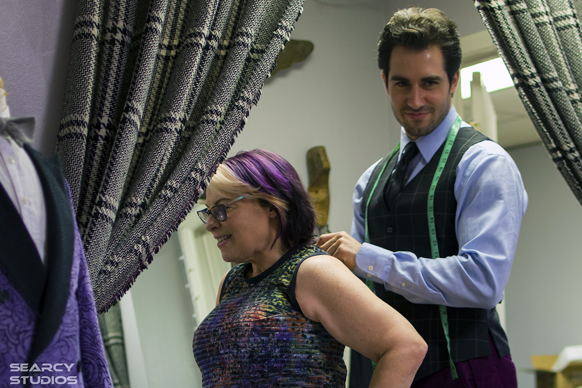 Tweaking a bespoke dress by  Liz McLean