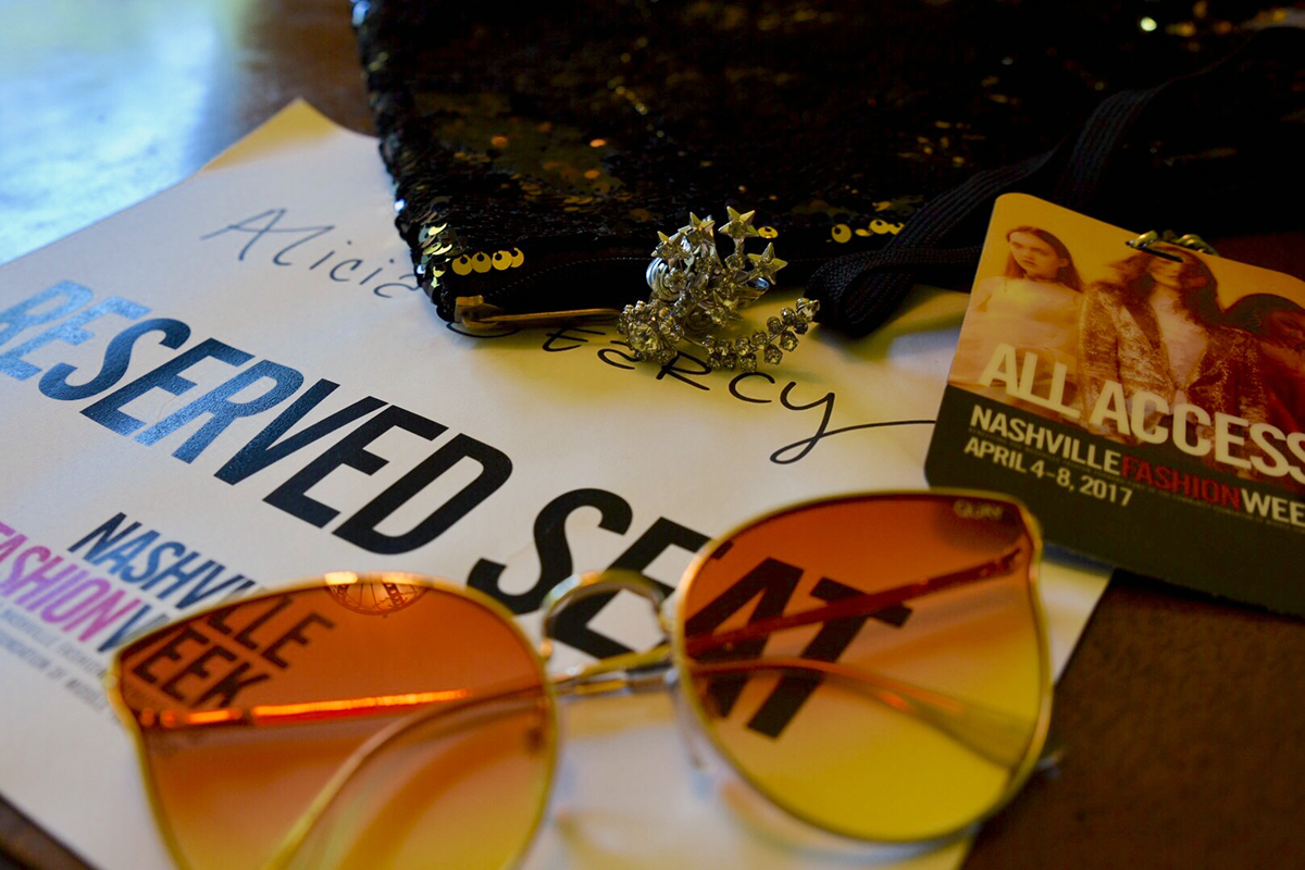 Photo:  Searcy Studios   Sunglasses:  Native + Nomad   Shooting Star Ring :  Sue Surdi Designs   Kinetic Sequin Clutch:  Any Old Iron
