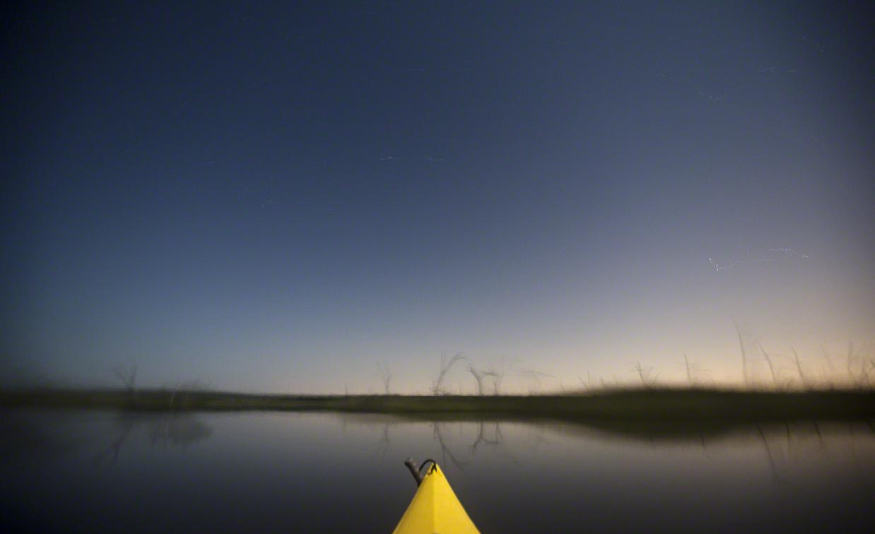 long exposure while paddling