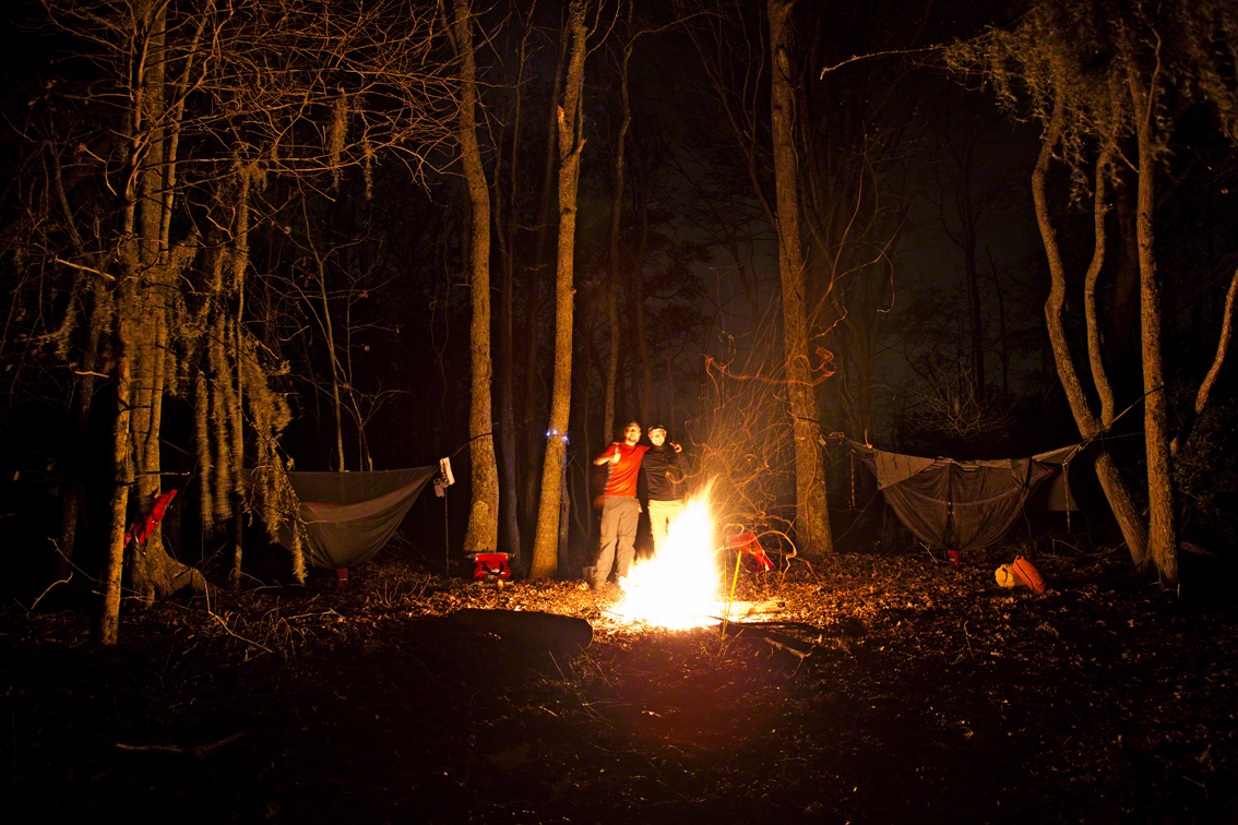 the campsite, the longest night of the year meant more time to drink beer