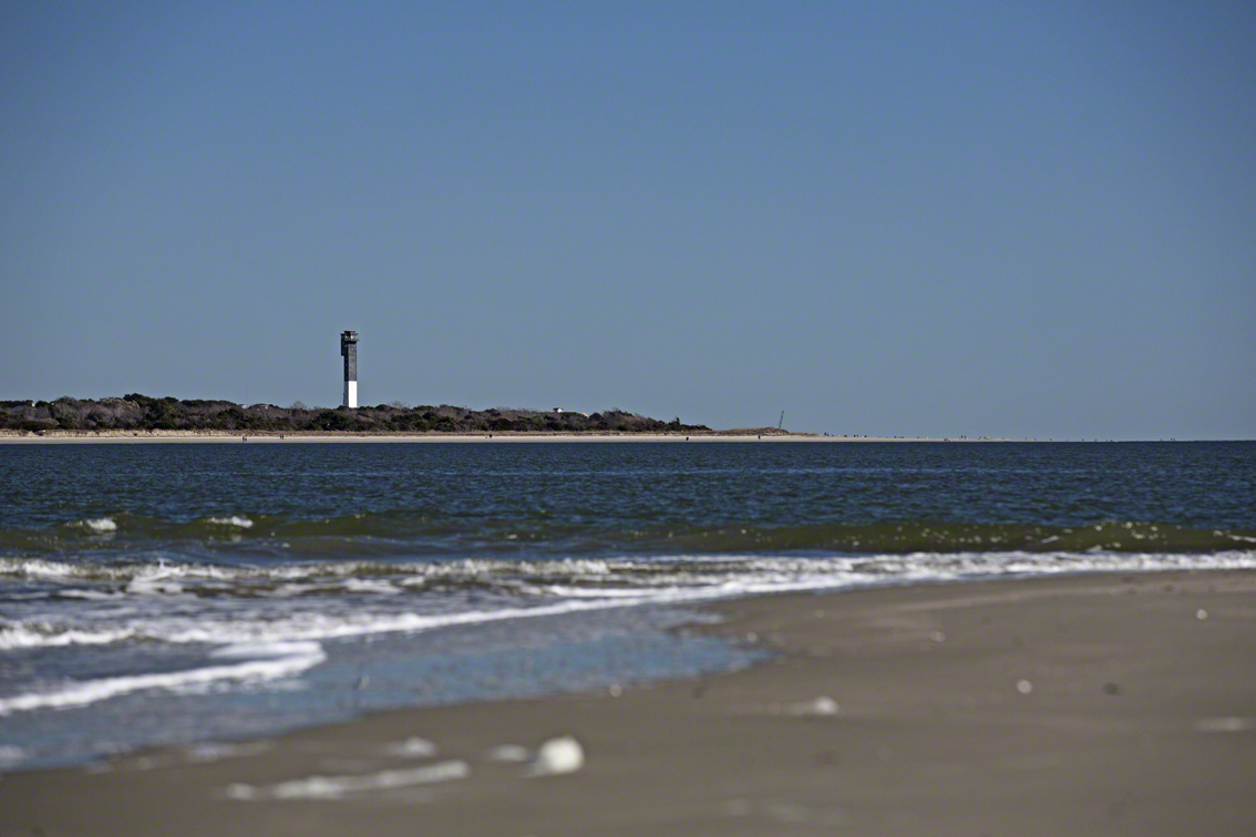 view of sullivans lighthouse from morris island