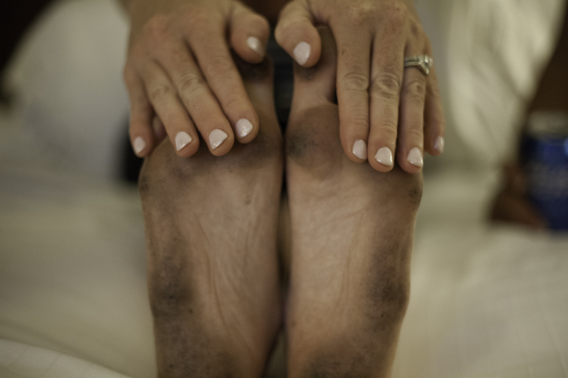 wedding night grocery store feet