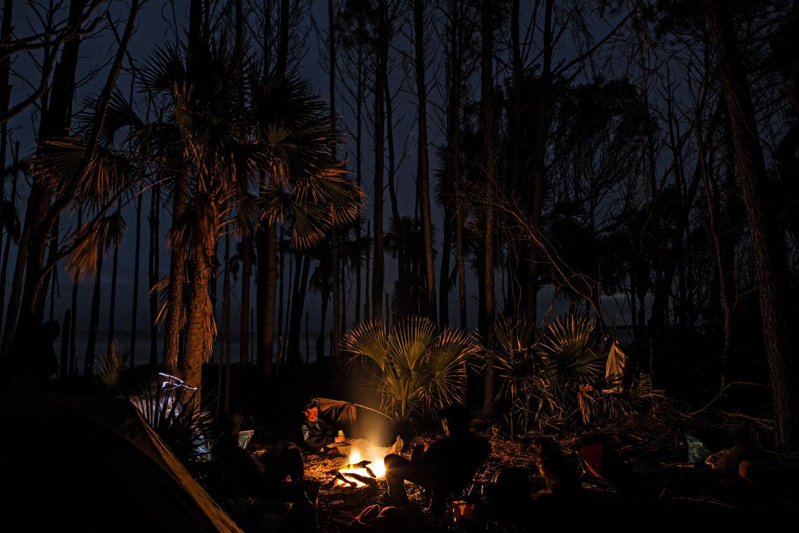 Late night camp shot.