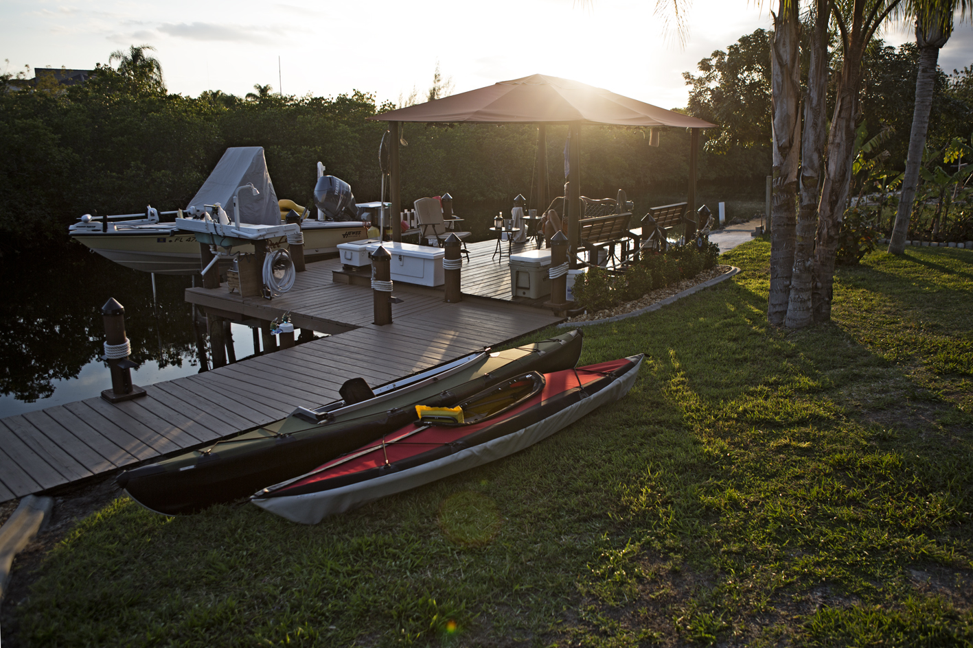 A test run to assemble the boats after arriving in Florida.