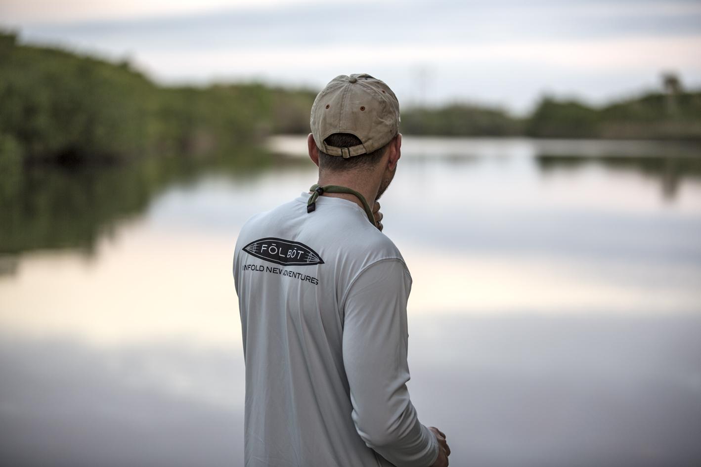 Jim scanning for gators on Shell Creek.