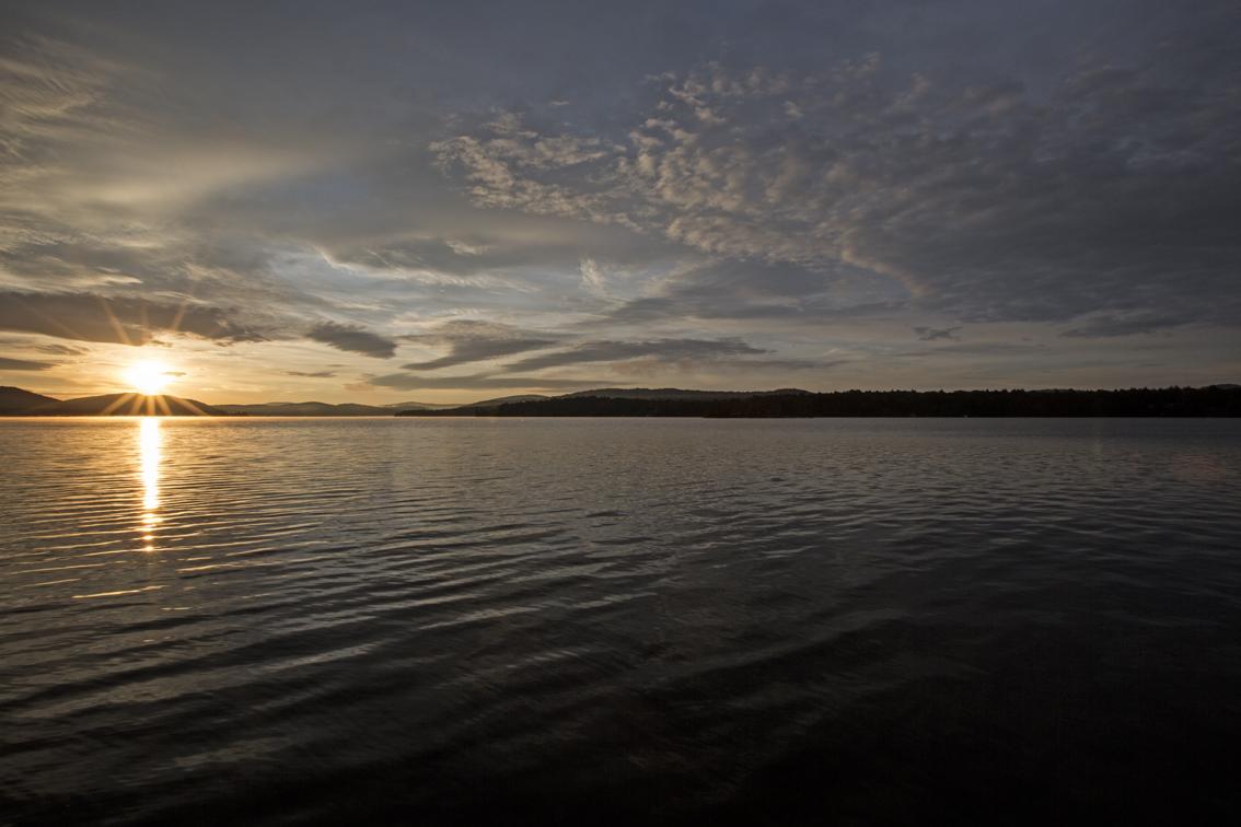 Sunrise over Fourth Lake.