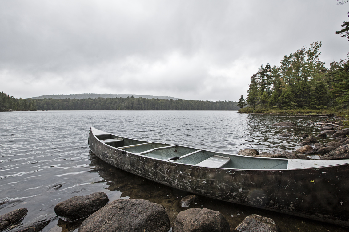 A communal canoe I found after a short hike into Sis lake, Inlet NY.