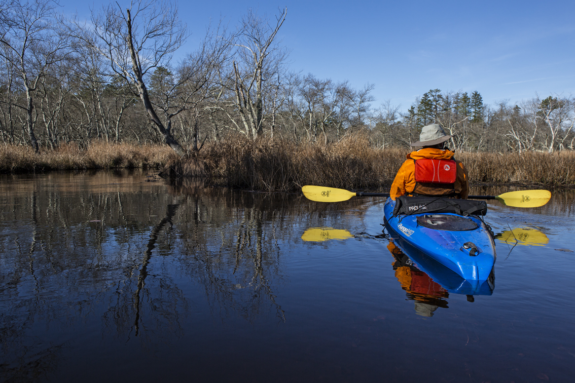 Frank chilling in a calm eddy on the Mullica river, we took advantage of these anytime we had the chance.