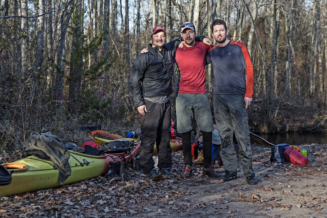 The crew at mile 0, after our 6.5 mile slog upstream.   We made it.