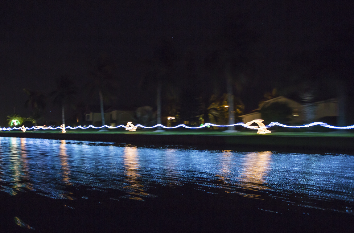 Everyone in my parents neighborhood decorates their yard by the canal, its a pretty awesome way to see christmas lights.
