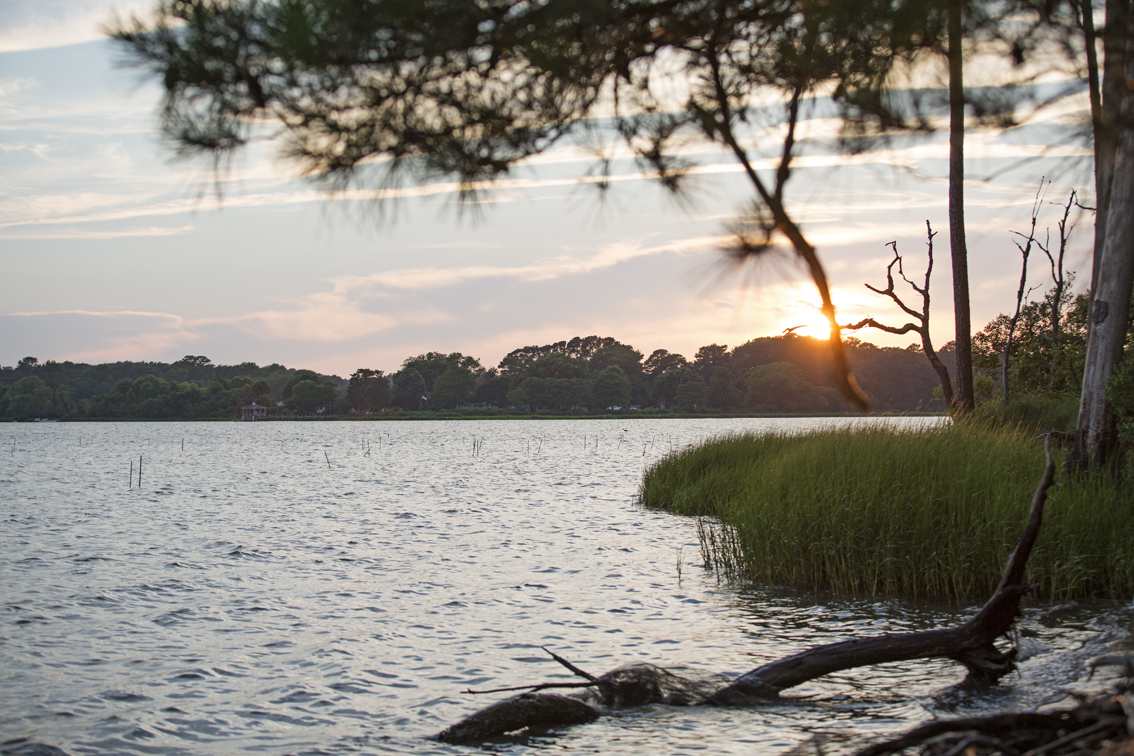 Sunset from the banks of Cherrystone Inlet.