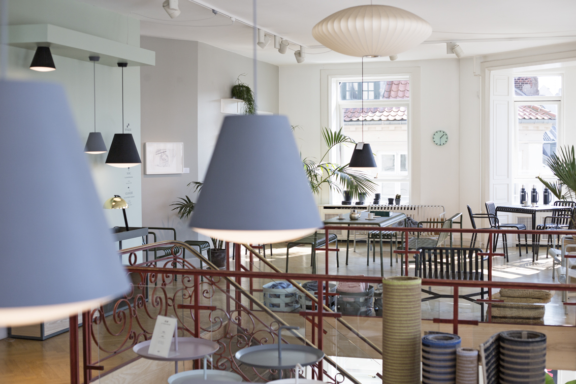 Lighting and furniture in HAY House.