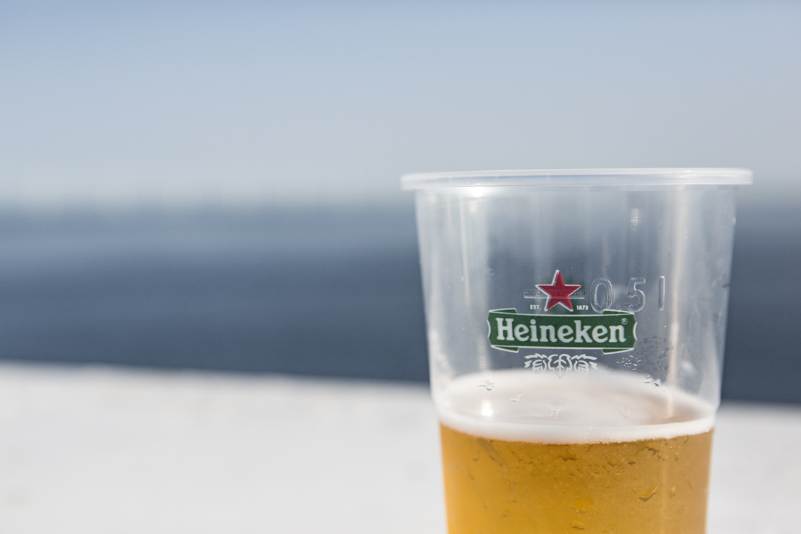 Sun deck beverages. We quickly learned it was much smarter to buy alcohol at the duty free shop.