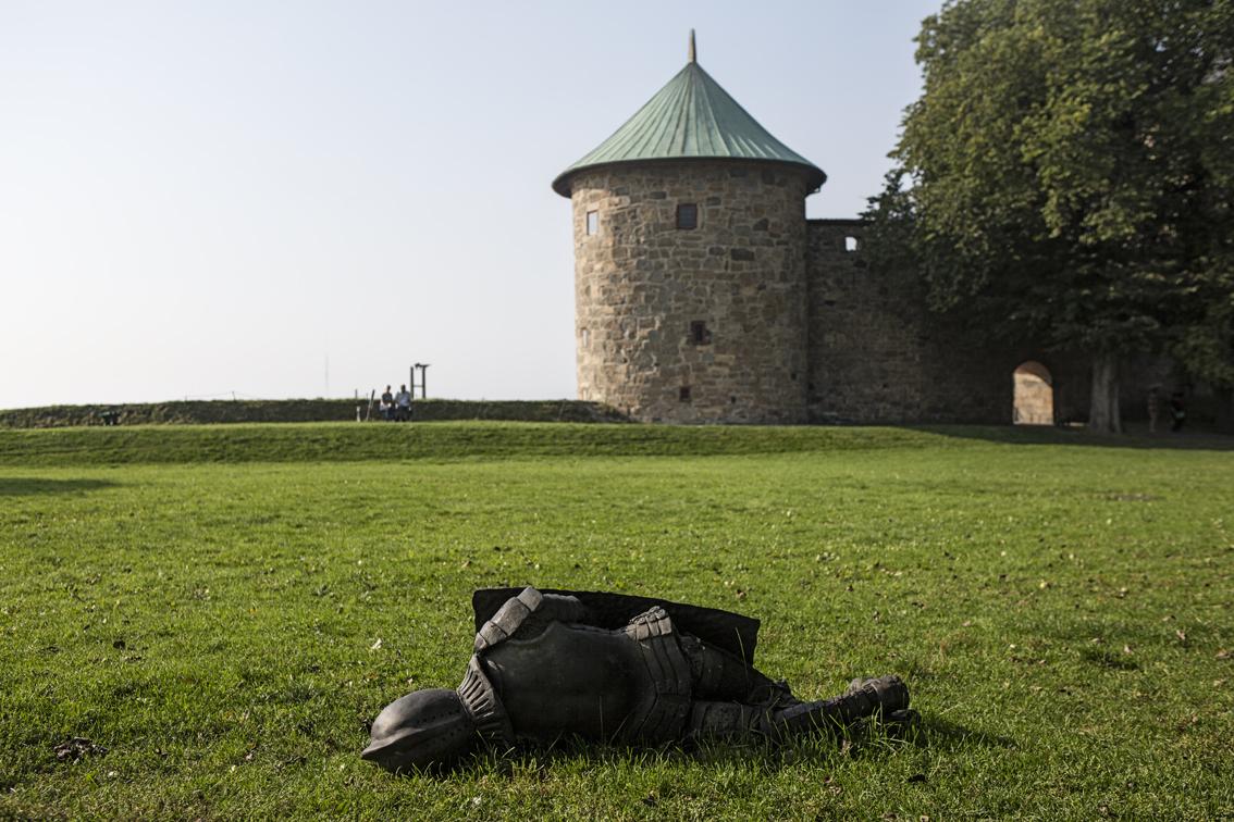 Fallen soldier at Akershus.
