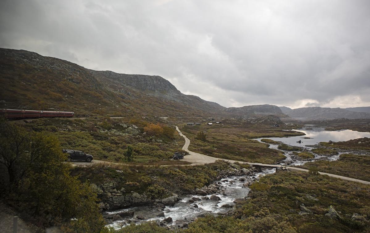 A mountain stream along the way, near Finse.