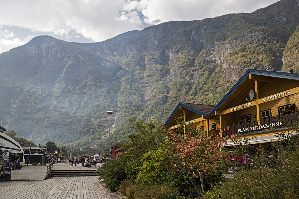 The waterfront in Flam.