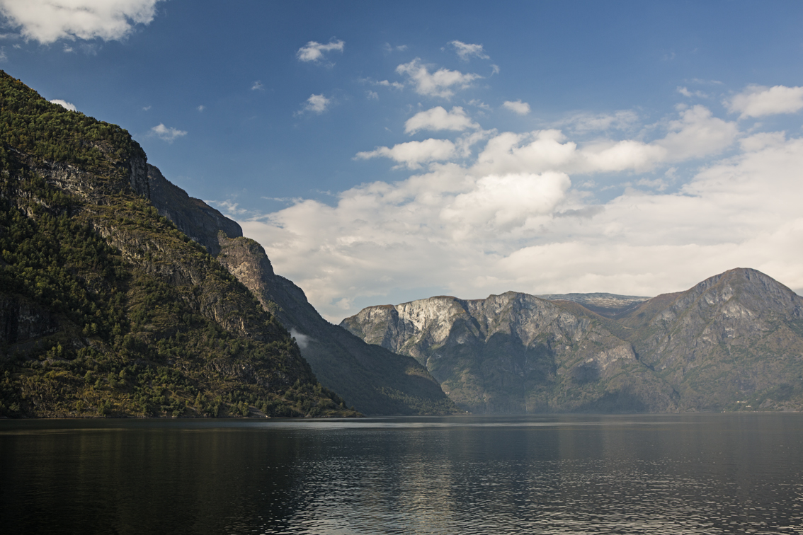 Our first real glimpse of a Norwegian Fjord that wasn't covered in fog.