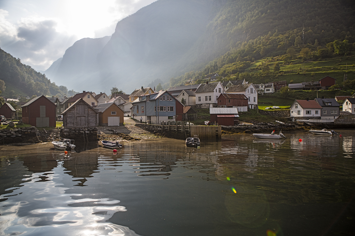 The village of Undredal, accessible only by boat until 1988. The population here is 100 people and 500 goats.