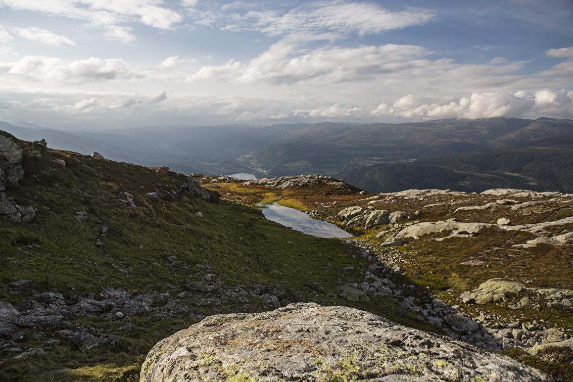 Mountain top pond.