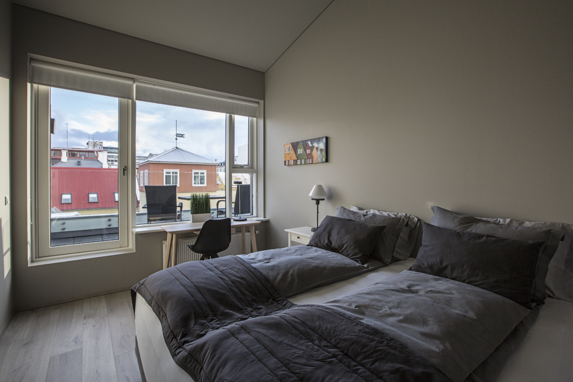 Super comfy king bed, and a balcony that we never used, since it was so cold.  They do this type of bedding throughout Scandinavia, and we kind of fell in love with having our own personal comforters - no one steals it from you in the middle of the night.