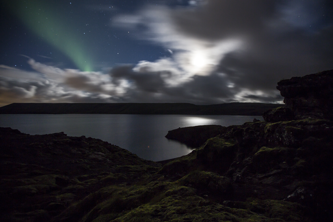 My first shot of the Aurora, this was before you could actually see it with your eyes.