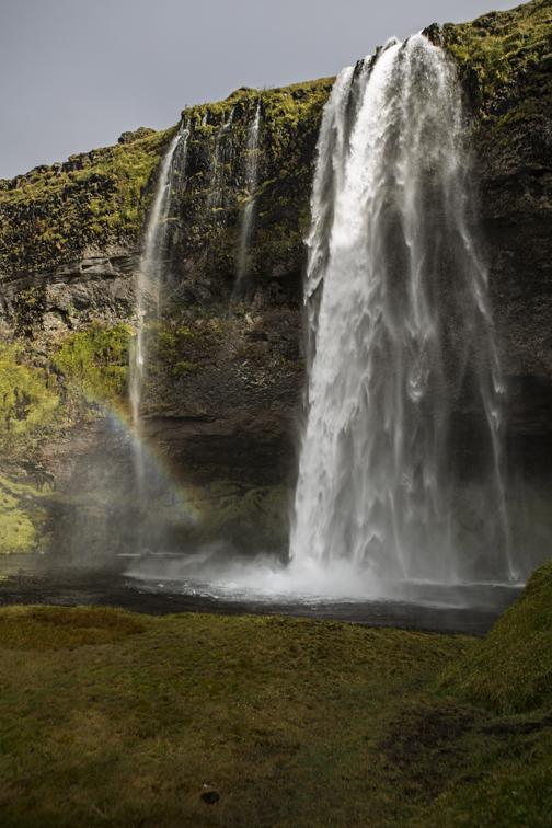 Seljalandsfoss rainbow.