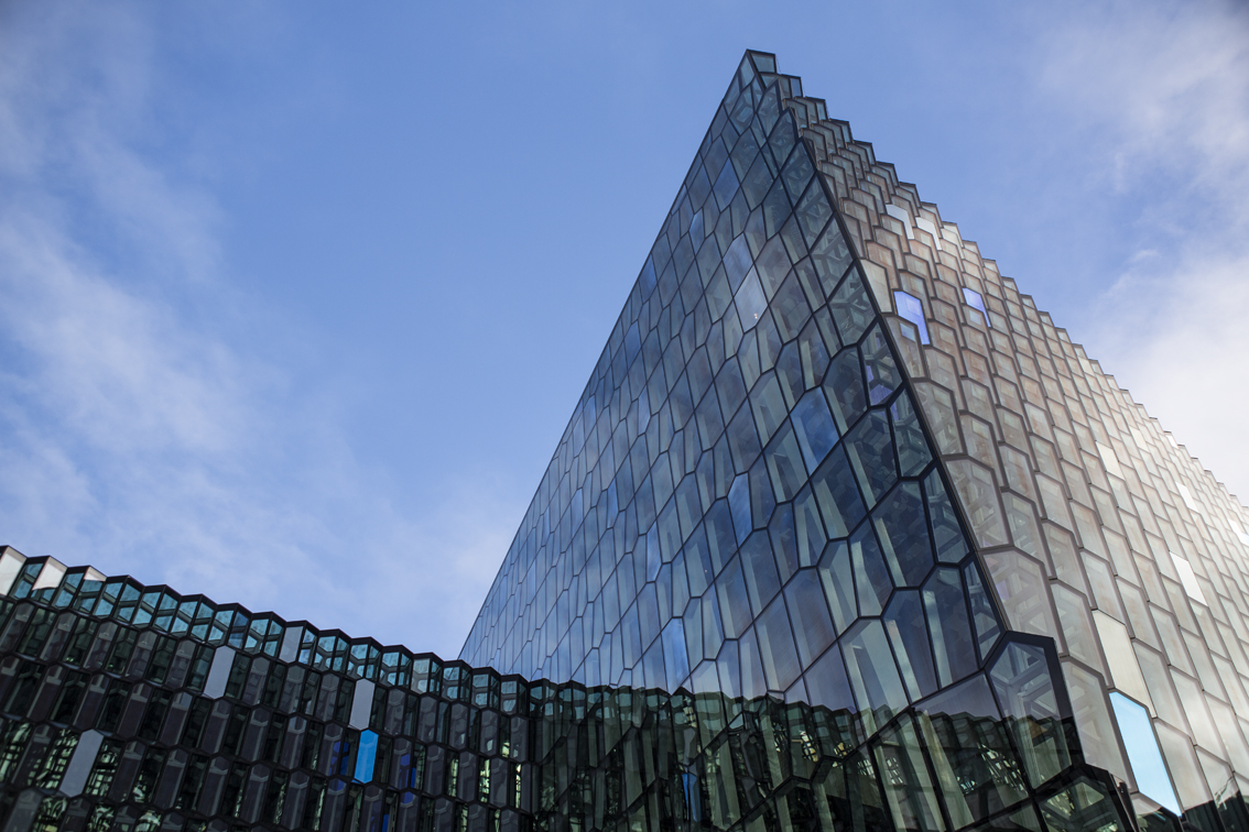 Harpa, Reykjavic's stunning concert hall and conference center.