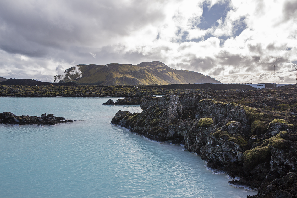 Right outside of the Blue Lagoon