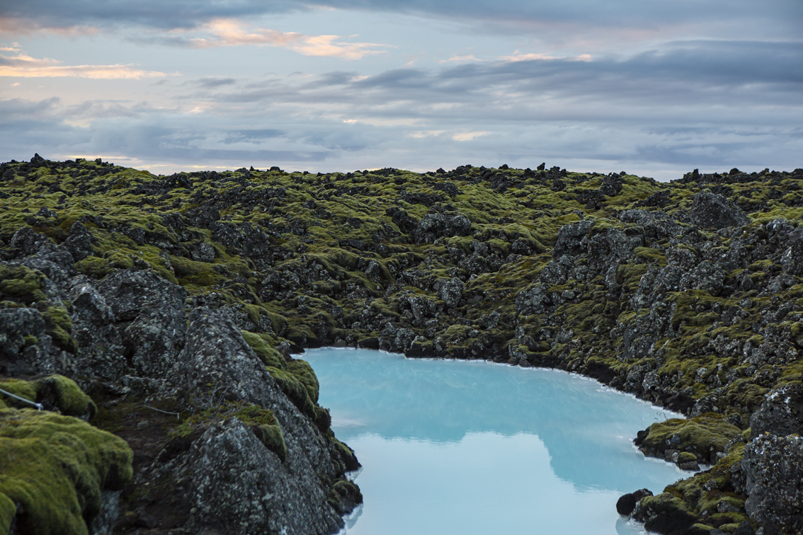 Some of that famous milky blue water outside of the Blue Lagoon.