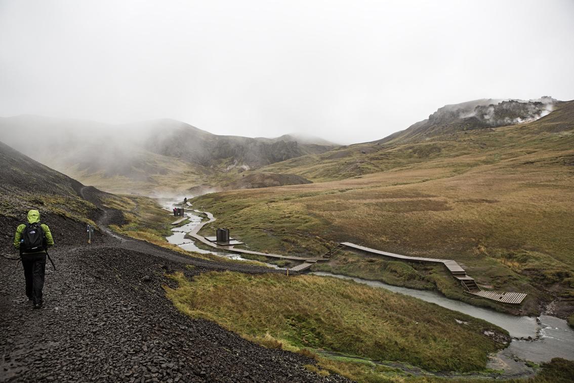 The bathing area of Reykjadalur