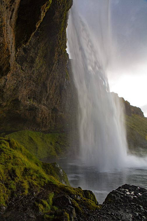 The view from behind Seljalandsfoss